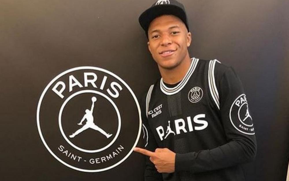 low priced b4490 61cb7 Mbappé porte la nouvelle collection PSG x Jordan   Sport ...