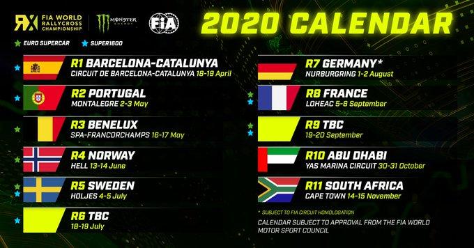 Calendrier Coupe Du Monde Russie 2020.World Rx Le Calendrier 2020 Devoile Sport Business Mag