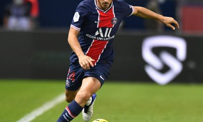 Alessandro Florenzi lors de son premier match sous les couleurs du Paris Saint-Germain contre l'Olympique de Marseille