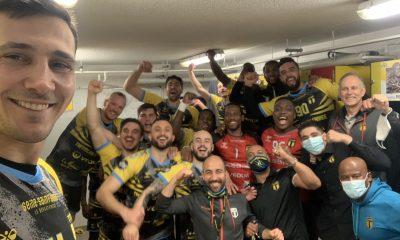 La joie du vestiaire de Tremblay après la victoire face à Créteil en Lidl Starligue