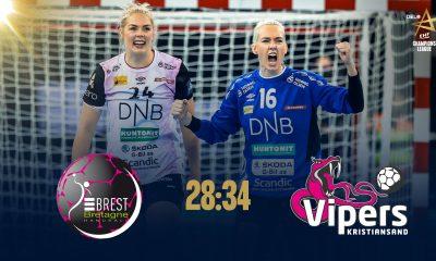 Brest manque sa finale de Ligue des Champions face au Vipers Kristiansand