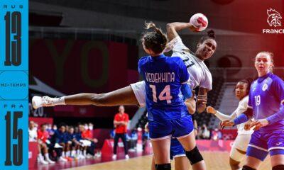 L'équipe de France féminine de handball est devant à la pause