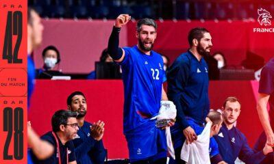 La France s'impose face au Bahreïn en quart de finale des JO